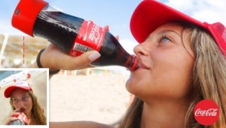 Coke's New Bottle Lets You Take Selfies While Sipping