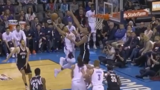 Andre Roberson Put Brook Lopez On A Poster With This Vicious Tomahawk Jam