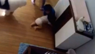 Watch The Moment This Boy Incredibly Catches His Baby Brother Falling Off His Changing Table