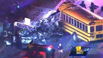 A School Bus And Commuter Bus Collide In Baltimore With Multiple Casualties Reported