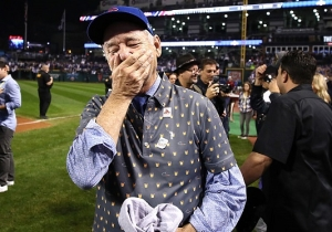Bill Murray's Joy At The Cubs Winning The World Series Is Positively Infectious