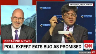 A Poll Expert Keeps His Word And Swallows A Bug Following Donald Trump's Surprise Election Victory