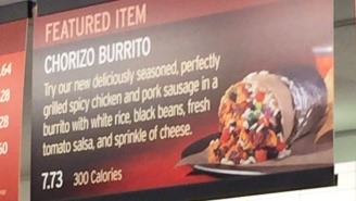 Chipotle Is Being Sued Over Their '300 Calorie' Chorizo Burrito