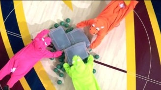 The Cavs Hosted A Real-Life Game Of 'Hungry Hungry Hippos' With Fans