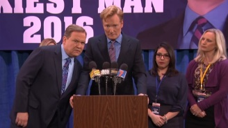 Conan Delivers A Hilarious Concession Speech To The Rock For Winning The Title Of 'Sexiest Man Alive'