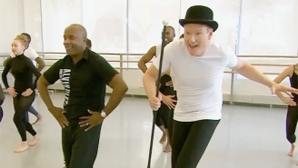 Conan Has No Trouble Making A Fool Of Himself In A Professional Dance Class