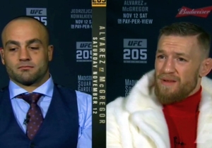 Conor McGregor Caught On Hot Mic Calling Reporter A 'Mush Head Donkey'