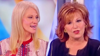 Joy Behar Flat-Out Calls Kellyanne Conway 'Delusional' Over Her Defense Of Trump's Rhetoric On Nukes