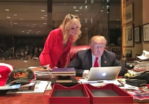 Kellyanne Conway And Trump's 'Working Hard' Photo Inspires Captions Galore