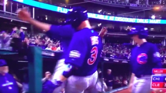 David Ross Bumped Dongs With His Cubs Teammates To Celebrate His Game 7 Dinger