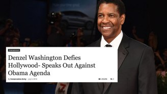 How A Fake Denzel Washington Story Turned Into Alt-Right Propaganda