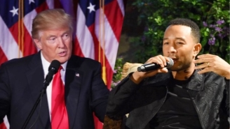 John Legend Compares Trump's Rhetoric To Hitler