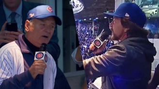 Eddie Vedder And Bill Murray Are Enjoying The Hell Out The Cubs Post-Season