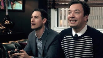 Jimmy Fallon Put His 'Mario Kart 8' Driving Skills To The Test Against NASCAR All-Stars