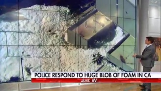 A Massive Foam Blob Erupted In Santa Clara And Fox News' Shepard Smith Loved Every Minute Of It