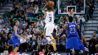 George Hill Drained A Running Half-Court Buzzer-Beater To End The Half