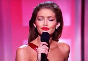Gigi Hadid Didn't Hold Back With A Cringeworthy Melania Trump Impression At The AMAs