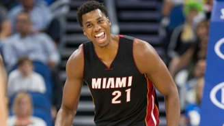 Hassan Whiteside Could Not Stop Laughing At Snapchat's Dancing Hot Dog Filter
