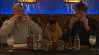 Tony Hawk Puts His Mouth Through A Wing Torture Test With The 'Hot Ones Challenge'
