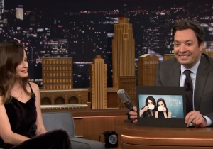 Jimmy Fallon Confronts 'Gilmore Girls' Star Alexis Bledel About Her Hilarious Inability To Hold Things