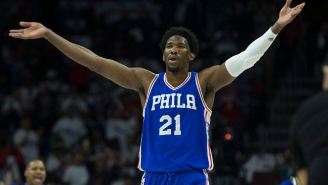 The Sixers Made Special Shirts To Honor Joel Embiid's Appearance At The Draft Lottery