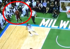 J.R. Smith Dapped Up Jason Terry Instead Of Playing Defense On This Possession