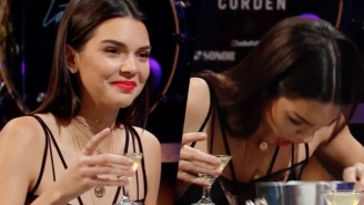 James Corden Makes Kendall Jenner Answer Truthfully Or Chow Down Some Disgusting Food