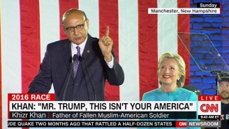 Khizr Khan Stumps For Clinton And Sends A Stark Message To Trump: 'This Isn't Your America'