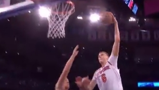 Kristaps Porzingis' Latest Highlight Came When He Put Mason Plumlee On A Poster