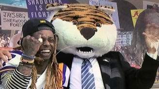 Lil Wayne Brought His Predictions And Diamonds To The 'College GameDay' Set