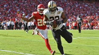 Mark Ingram Had Some Very NSFW Language Caught On Camera After A Touchdown Run