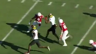 No One Could Tackle This Maryland Receiver On An Insane Catch-And-Run For A Touchdown