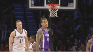 Matt Barnes Launched This Would-Be Alley-Oop Right Into The Goal For Three