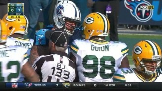Taylor Lewan Got Ejected For Shoving An Official During Tennessee's Game Against Green Bay