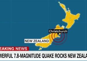 A Magnitude 7.8 Earthquake Strikes New Zealand, Leaving Damage And Sparking Tsunami Fears