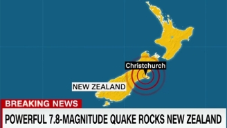A Magnitude 7.8 Earthquake Strikes New Zealand, Leaving Damage And Sparking Tsunami Fears