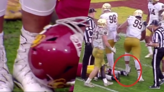 A Notre Dame Defensive Lineman Kicked And Stomped Two Different Injured USC Players