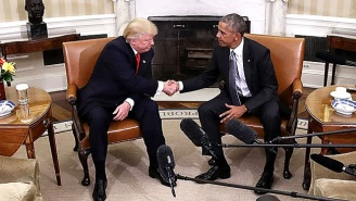 The Internet Is Having Some Fun With That Photo Of Obama And Trump Shaking Hands