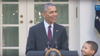 Obama Brought The Worst Dad Jokes For His Final Turkey Pardoning Ceremony
