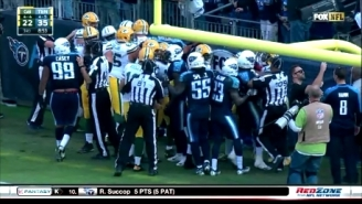 A Cheap Shot On Aaron Rodgers Prompted This Scuffle Between The Packers And Titans