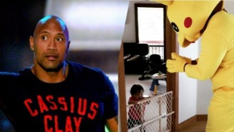 The Rock Continued His Father Of The Year Campaign By Dressing As Pikachu For Halloween
