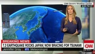 A Magnitude 6.9 Earthquake Strikes Near Fukushima In Japan, Tsunami Warning Issued