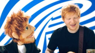 Ed Sheeran's Face Was Sliced By Princess Beatrice In A Comedy Knighting Gone Wrong