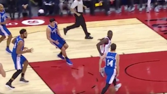 Sergio Rodriguez Dropped A Slick Between-The-Legs Pass To Jahlil Okafor For A Huge Dunk