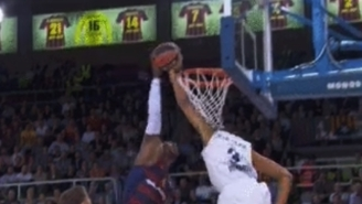 Anthony Randolph Ruined Joey Dorsey's Day With The Block Of The Year