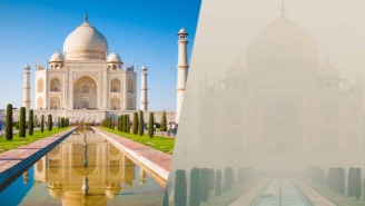 A Blanket Of Smog Is Ruining Everyone's Taj Mahal Travel Photos