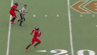 Texas Tech's Defense Ripped The Ball Away From Texas And Scored A Crazy 100-Yard Touchdown