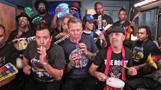Metallica Endears Themselves To Fans By Playing 'Enter Sandman' With Kid Instruments On 'Fallon'