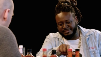T-Pain Experiences The Sauce Slathered Agony Of The 'Hot Ones' Challenge