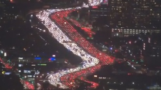 Gridlocked Los Angeles Holiday Traffic Captured By Helicopter Is Predictably Insane